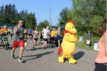 Wesbury Chicken Run The Road to Recovery 5K is a Running race in Meadville, Pennsylvania consisting of a 5K.