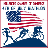 The Hillsboro Chamber of Commerce 4th of July Biathlon is a Duathlon race in Hillsboro, Illinois consisting of a Olympic.