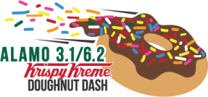 Alamo 3.1/6.2 Doughnut Dash The Wobble N' Gobble 5K is a Running race in San Antonio, Texas consisting of a 5K.