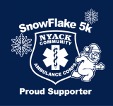 Snowflake 5K Run/Walk - Nyack Community Ambulance Corps The Snowflake 5K is a Running race in Nyack, New York consisting of a 5K.