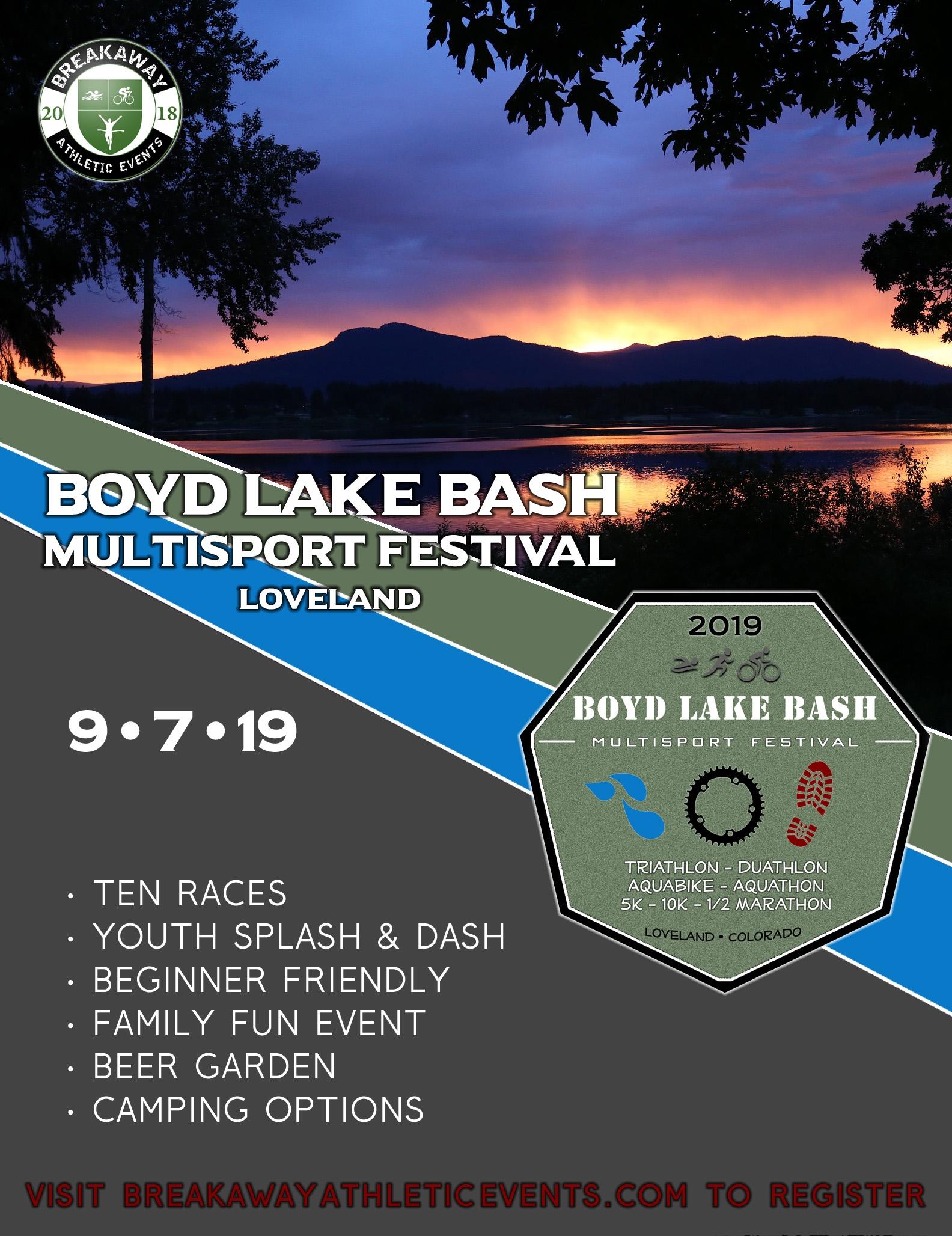 Boyd Lake Bash Multisport Festival | Aquathlon | Loveland, Colorado