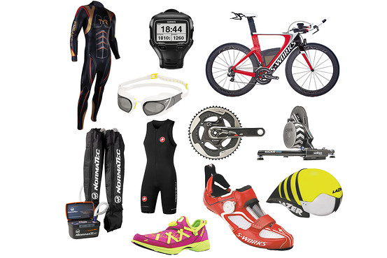 Many triathlon shops have great sales early in triathlon season